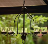 Hanging Votive Chandelier For Outdoor Living Space Patio ...