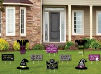 Witch Lawn Decorations  Outdoor Halloween Yard