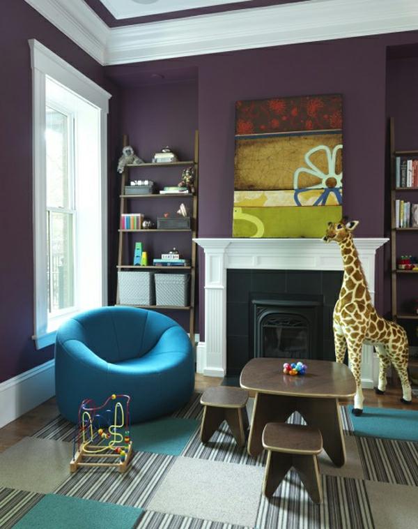Interessante Ideen fr Interieur in Blau und Violett