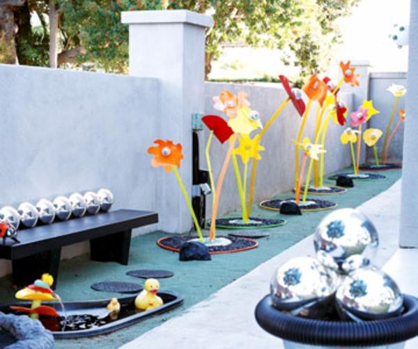 Gartendeko Ideen aus preiswerten und gnstigen Materialien
