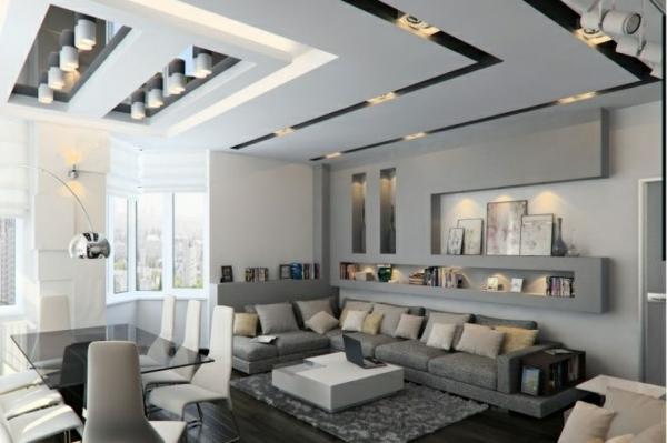 Wohnzimmer Grau Wei Modern Style  parsvendingcom