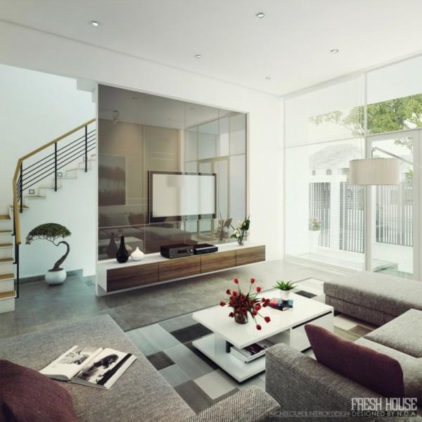 modernes wohnzimmer, moderne wohnzimmer – inspiration design, Design ideen