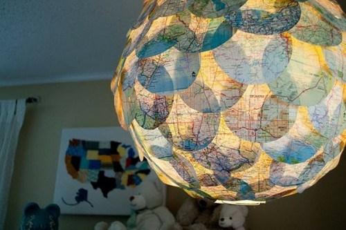 Innendekoration mit Landkarten  25 Ideen zur Selbstgestaltung
