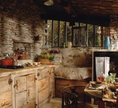 Kchen Interieurs mit franzsischen Deko Elementen  25 Ideen