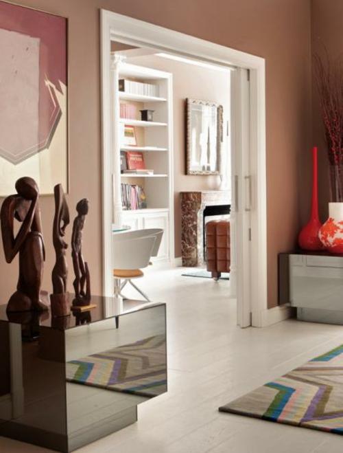Unglaubliche Lachsfarben Ausstattung Ideen Originell Wohnbereich Flur
