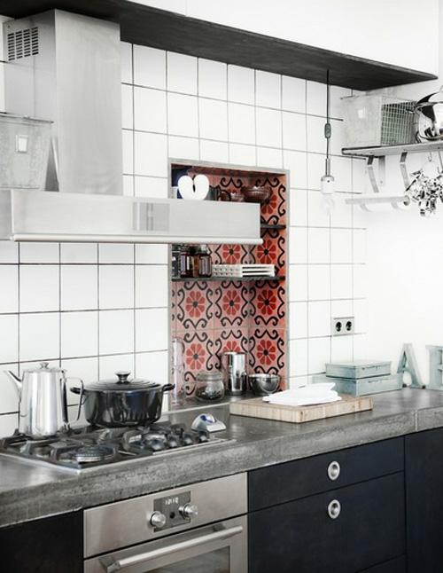 Kuchenwand Fliesen Weis Anthrazit | Badezimmer U0026 Wohnzimmer, Modern Dekoo