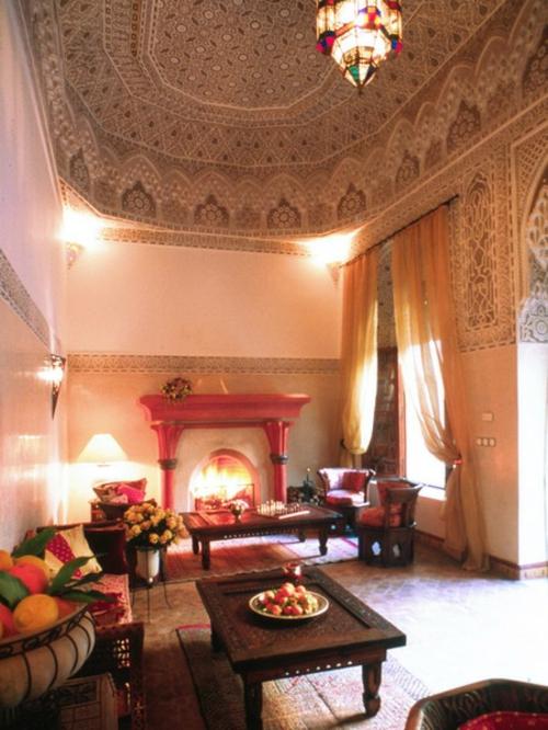 22 marokkanische Wohnzimmer Deko IdeenEinrichtungsstil aus dem Orient