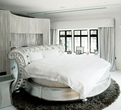 graues luxurioses schlafzimmer modern gestalten - boisholz - Schlafzimmer Luxus Modern