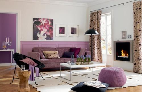 wohnzimmer deko wohnzimmer deko lila inspirierende bilder von ... - Wohnzimmer Schwarz Weis Lila