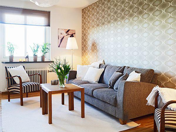 Betonte Wandeffekte in WohnzimmernDesign