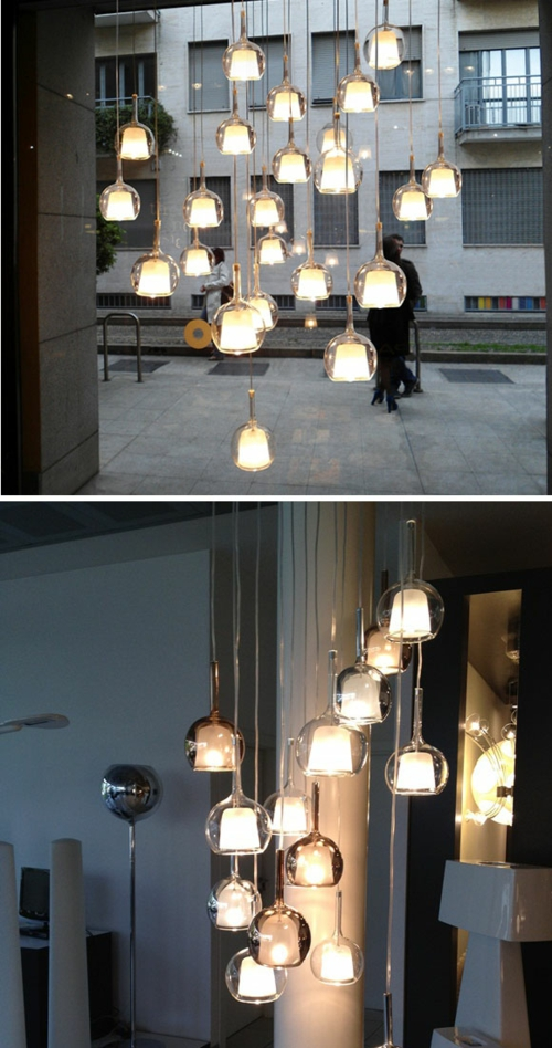 Italienische kreisfrmige Hngelampen von Penta GLO