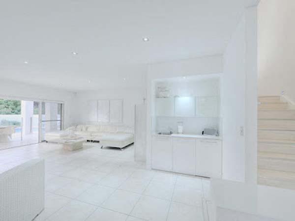 Himmlisches weies Haus Design in Australien ansssig