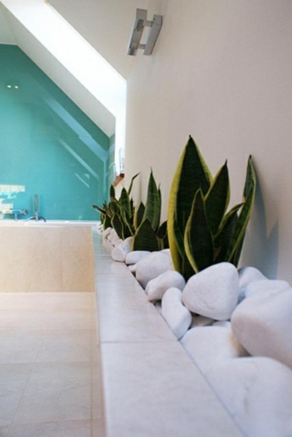 Badezimmer Design mit Blumen und Pflanzen  originelle