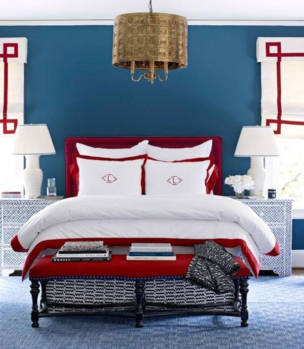 Schlafzimmer Rot Blau