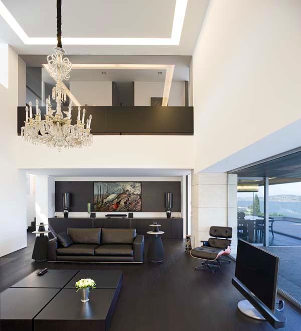 30 ergreifende durchgehende Wohnzimmer mit Ausblick