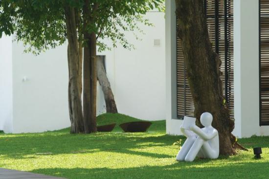 moderne kunst im garten - boisholz, Terrassen ideen