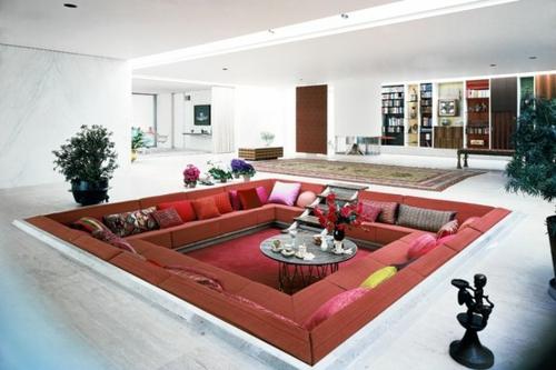 Modernes Wohnzimmer Design  Ecke zur Entspannung und Unterhaltung