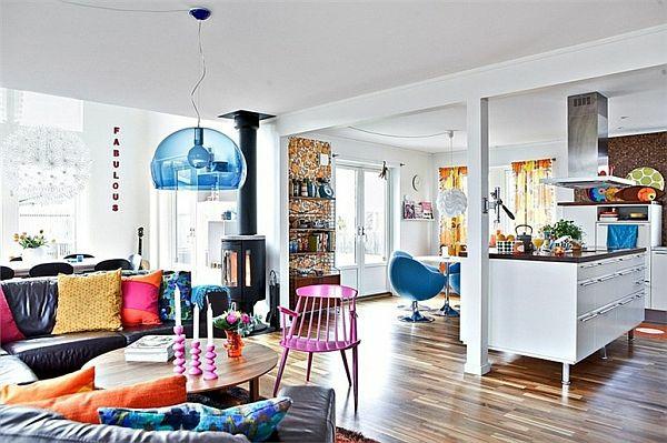 wohnzimmer mit einer bunten - boisholz - Wohnzimmer Ideen Bunt