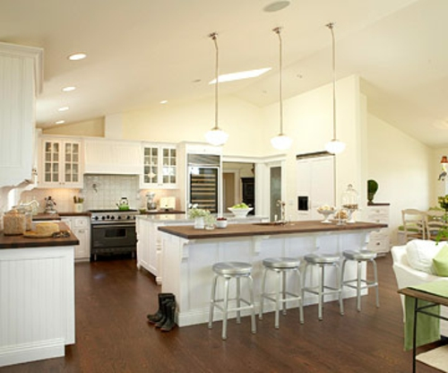 offene kuche insel   sichtschutz - Offene Kuche Wohnzimmer Boden