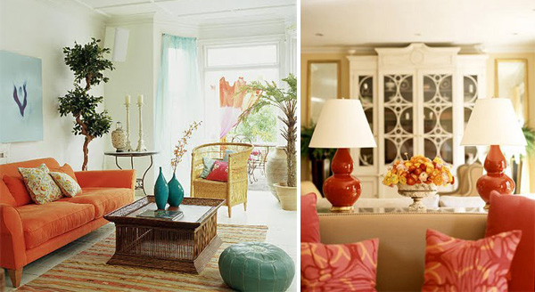 Orange Interior Design  frische grelle Ideen