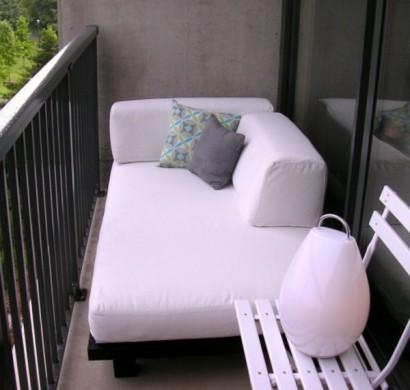 Balkon Relax Liege Ideen  behagliche Erholungsecke gestalten