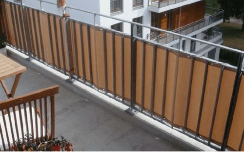 balkon sichtschutz stoff beige - boisholz, Garten ideen