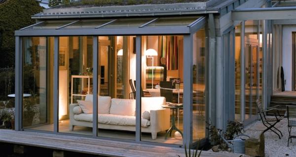 Terrasse Wintergarten Aus Glas Bauen Sie Schönen Wintergarten An