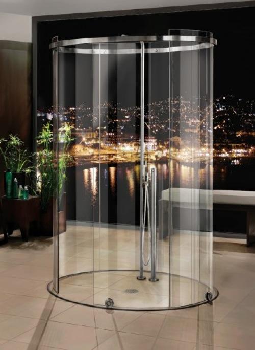 Badezimmer Ideen  moderne Duschkabinen Designs