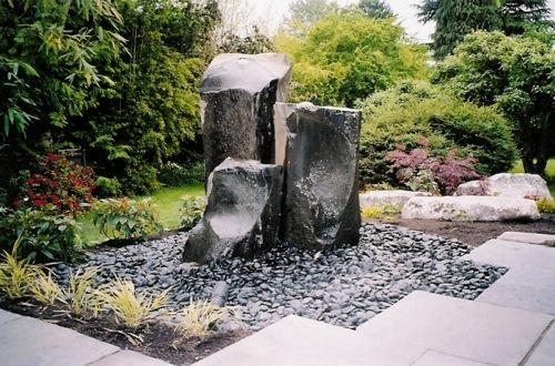 gartengestaltung mit wasser und steinen – igelscout, Gartenarbeit ideen