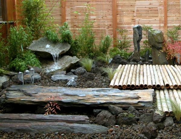 gartengestaltung mit steinen und wasser kleiner japanischer garten, Hause und garten