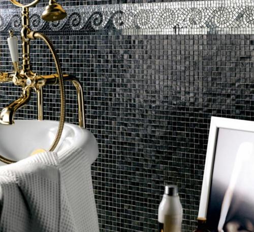 Badezimmer Fliesen Ideen Mosaik