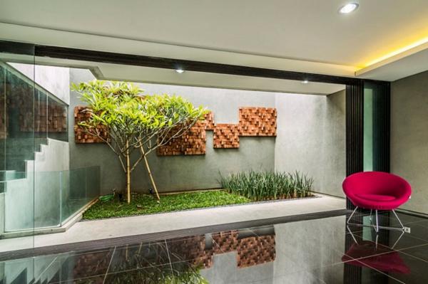 Kastenfrmiges Haus Design Lumber von Atelier Riri in Indonesien