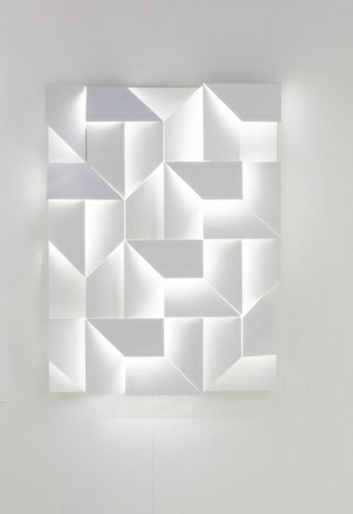 Schicke Wand LED Lampen mit 3DBedienungsfeld von Charles