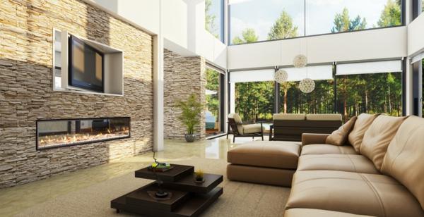 wandgestaltung steine wohnzimmer – raiseyourglass, Wohnzimmer