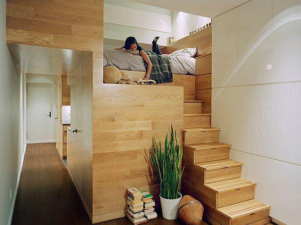 Gemtliches Schlafzimmer Design im Dachgeschoss einrichten