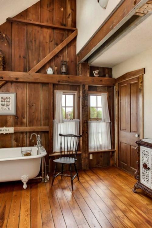 35 rustikale Badezimmer Design Ideen  lndlicher Scheunen