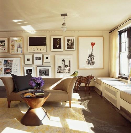 Wand Dekoration mit Bildern  29 kunstvolle Wandgestaltung Ideen