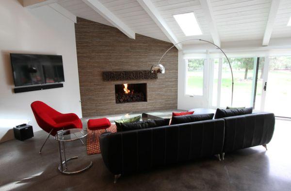 mid century modern sofa designs flexsteel downtown double reclining 55 moderne stehlampe bei der inneneinrichtung