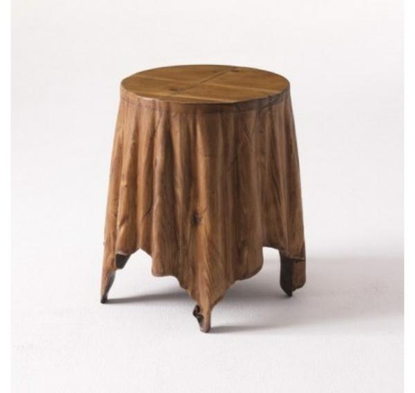 runder beistelltisch jiamano aus holz im loft design l - boisholz, Moderne