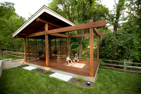 gartengestaltung terrasse uberdacht | sichtschutz, Gartenarbeit ideen
