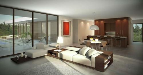 Das Wohnzimmer attraktiv einrichten  70 originelle moderne Designs