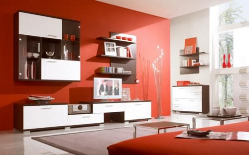 Wohnzimmer Design Wand | flamencon.com