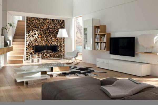 modernes wohnzimmer design elegante einrichtung - enbois - Wohnzimmer Design Mit Kamin
