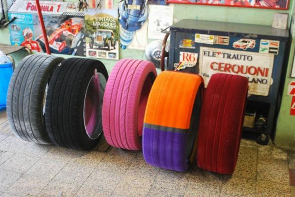 Designer Couchtisch von Tavomatico  ein cooles Mbelstck aus Reifen