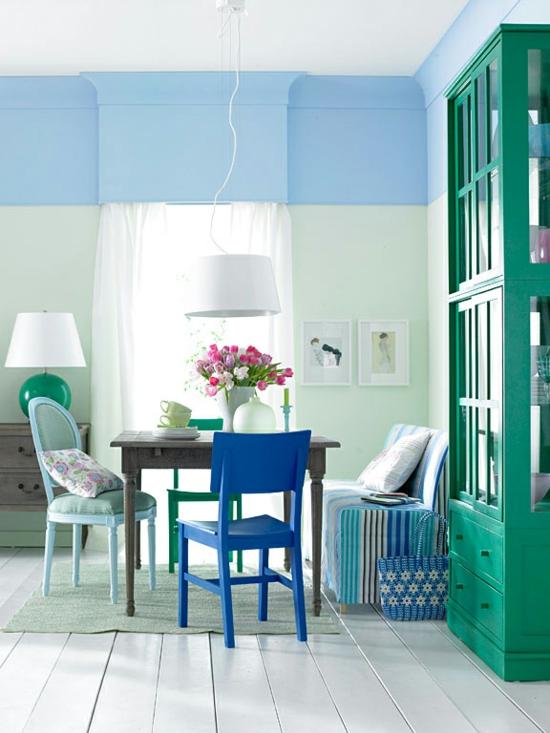 Raumgestaltung mit Farben  welche Farben finden Platz in