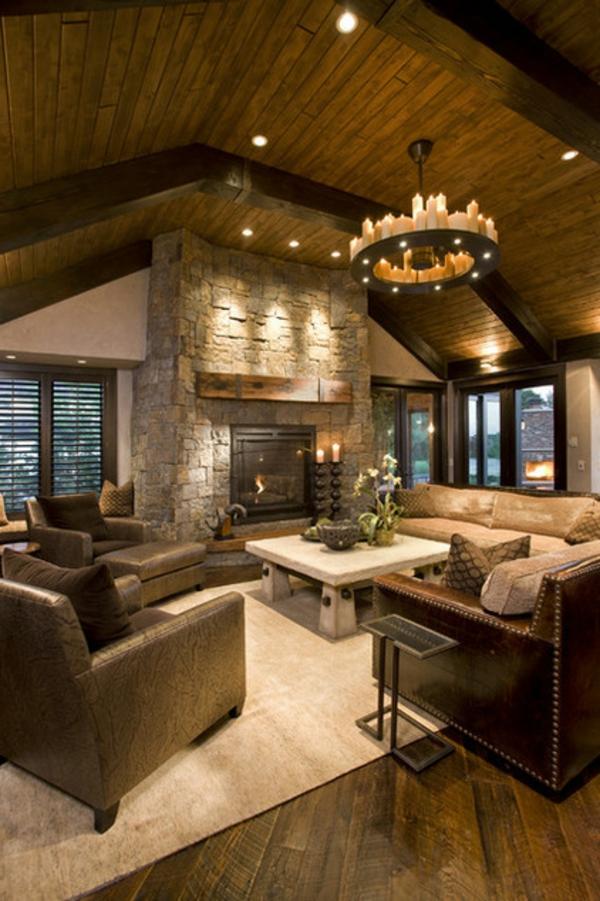 holz einrichtung wohnzimmer rustikal einrichten wohnzimmermobel