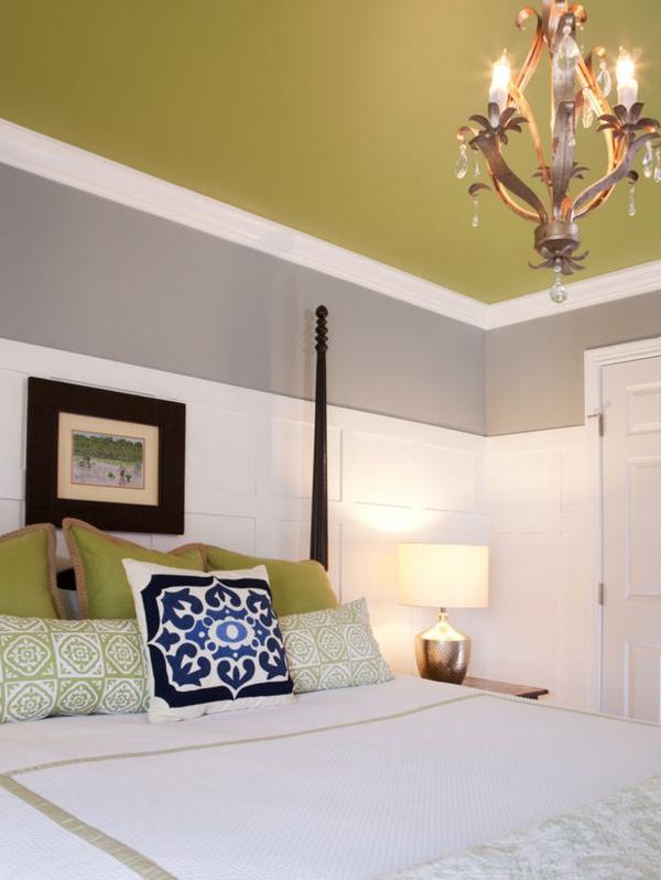 Das Schlafzimmer Gunstig Einrichten Lindgrun Zimmerdecke Wei Grau,  Wohnzimmer Design