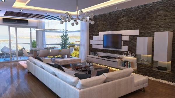 wohnzimmer design wandgestaltung - boisholz - Wohnzimmer Design Vorschlage