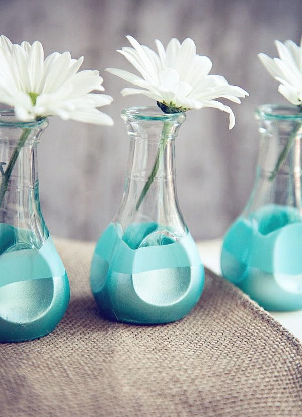 Glasvasen dekorieren  wie Sie mehr Farbe zu Ihren Blumen