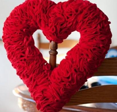 DIY Kranz zum Valentinstag selbst basteln